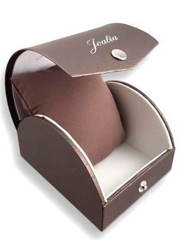 Montre femme Joalia argentée fond rose ecrin