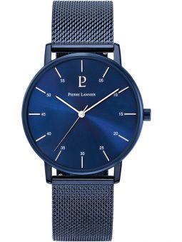 Montre homme Pierre Lannier bracelet milanais bleu
