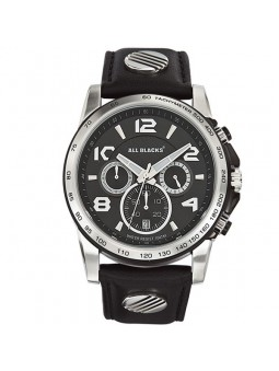 Montre All Blacks tachymetre cuir