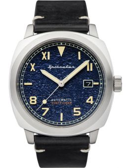 Montre homme SPINNAKER HULL CALIF AUTOMATIC automatique cuir bleu