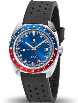 Montre LIP MARINIER GMT bracelet silicone