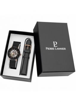 Coffret montre homme automatique Pierre Lannier 2 bracelets