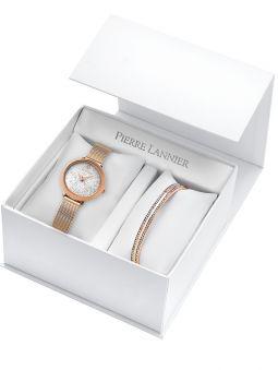 Coffret de montre Pierre Lannier 2 bracelets avec cadran orné de Cristaux Swarovski®