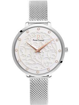 Coffret de montre femme Pierre Lannier avec cadran motif fleuri et collier