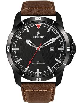 Montre homme All Blacks cuir noir fond noir
