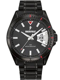 Montre homme Ruckfield bracelet acier noir