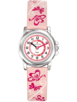 Montre enfant Certus papillon rose
