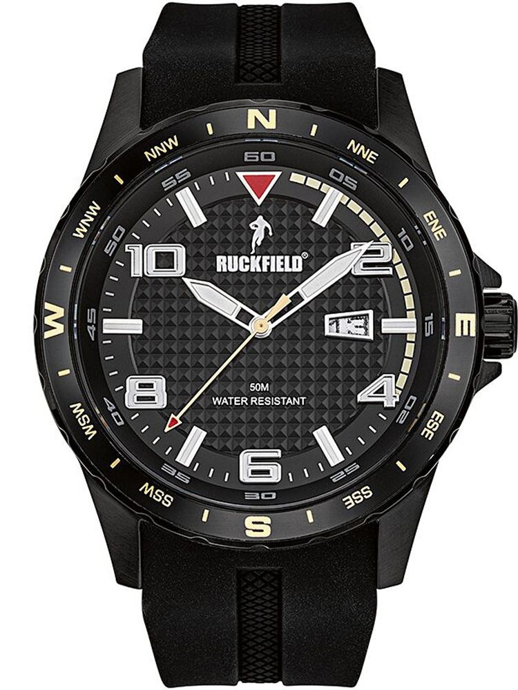 Montre homme Ruckfield bracelet silicone noir