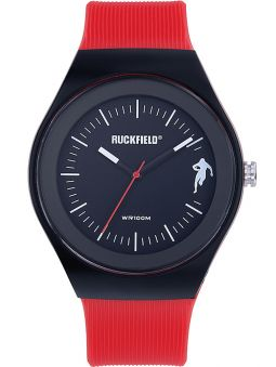 Montre homme Ruckfield acier silicone rouge
