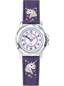 Montre enfant Certus violette avec tête de licorne
