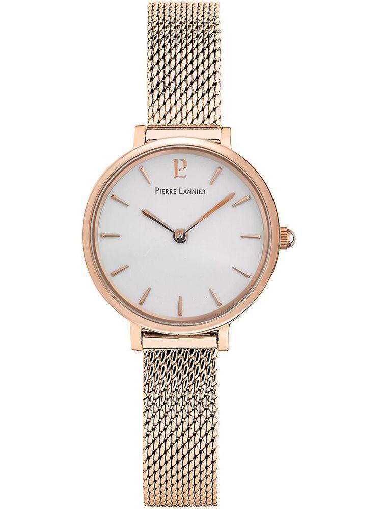 Montre femme Pierre Lannier bracelet milanais rose fond nacré 014J928_1