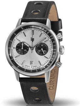 Montre homme LIP RALLYE bracelet cuir noir 671802_1