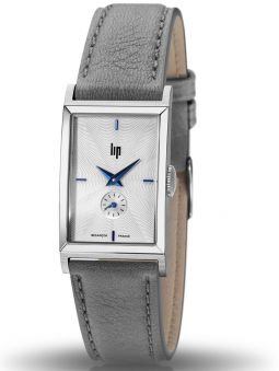 Montre LIP CHURCHILL T18 acier cuir gris 671408