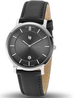 Montre homme LIP VALENTIN bracelet cuir noir 671703_1