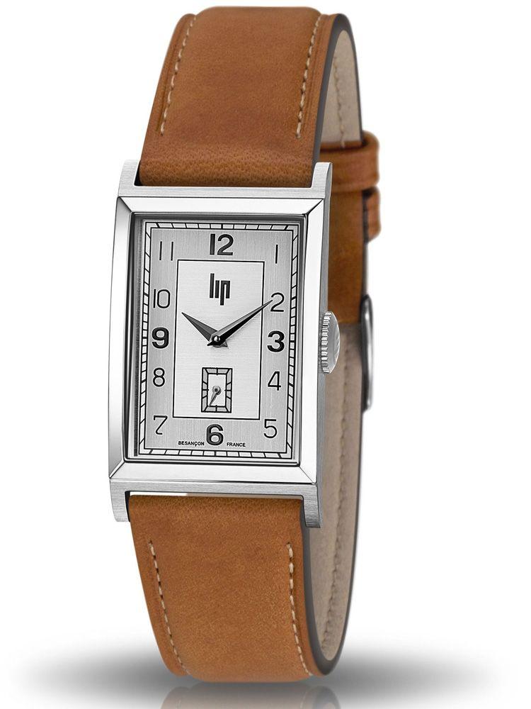 Montre homme LIP CHURCHILL T24 bracelet cuir marron clair 671276