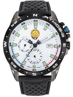 Montre homme Patrouille de France Athos 3 chronographe bracelet cuir 668038