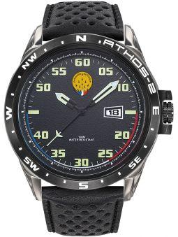 Montre homme Patrouille de France Athos 2 bracelet cuir noir 668051