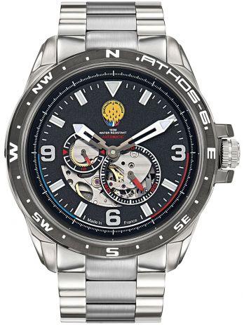 Montre homme Patrouille de France automatique Athos 6 bracelet acier fond noir 668072