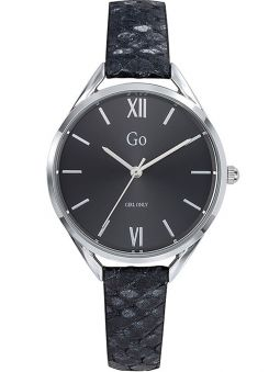 Montre GO Girl Only cuir noir peau de serpent 699270