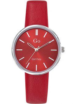 Montre femme Go ronde bracelet rouge 699315
