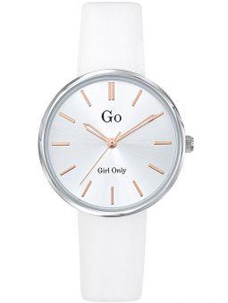 Montre femme Go ronde bracelet blanche 699313