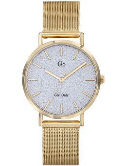 Montre femme Go bracelet milanais doré jaune fond pailleté 695935_1