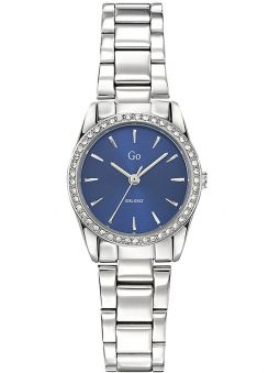 Montre femme Go bracelet tout métal fond bleu 695309_1