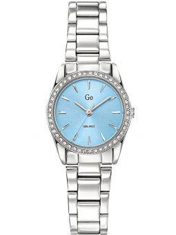 Montre femme Go bracelet tout métal fond bleu clair 695311_1