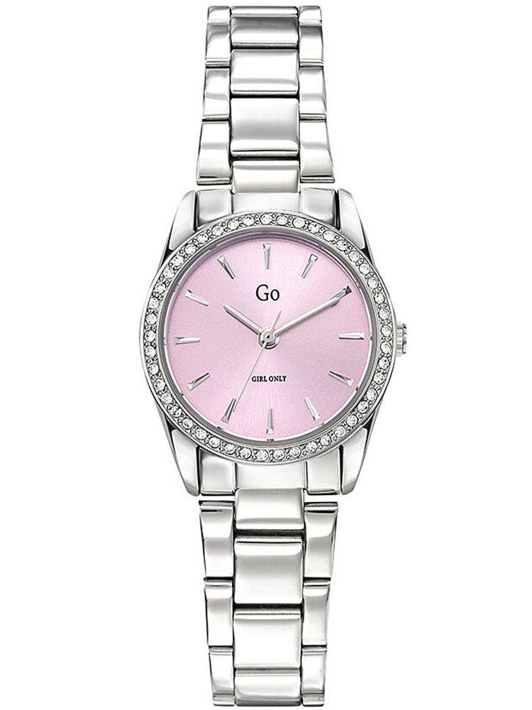 Montre femme Go bracelet tout métal fond rose 695310_1