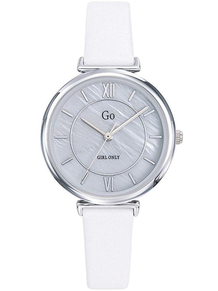 Montre GO Girl Only cuir blanc fond nacré 699276_1