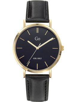 Montre femme Go ronde bracelet cuir noir 699296_1