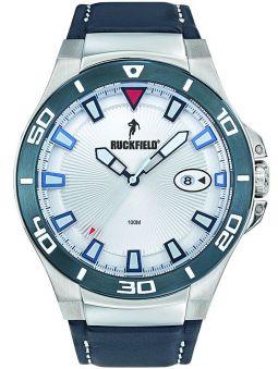 Montre homme Ruckfield acier cuir bleu 685076_1