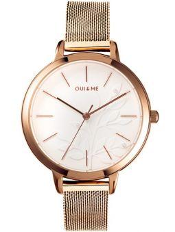 Montre femme Oui & Me petite fleurette bracelet milanais doré rose ME010134_1