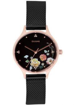 Montre femme Oui & Me minette 28 mm bracelet milanais noir ME010182_1