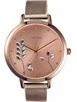 Montre femme Oui & Me grande fleurette bracelet milanais rose ME010155_1