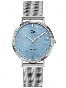 Montre Go for Girl Only bleu nacré bracelet milanais acier 695333