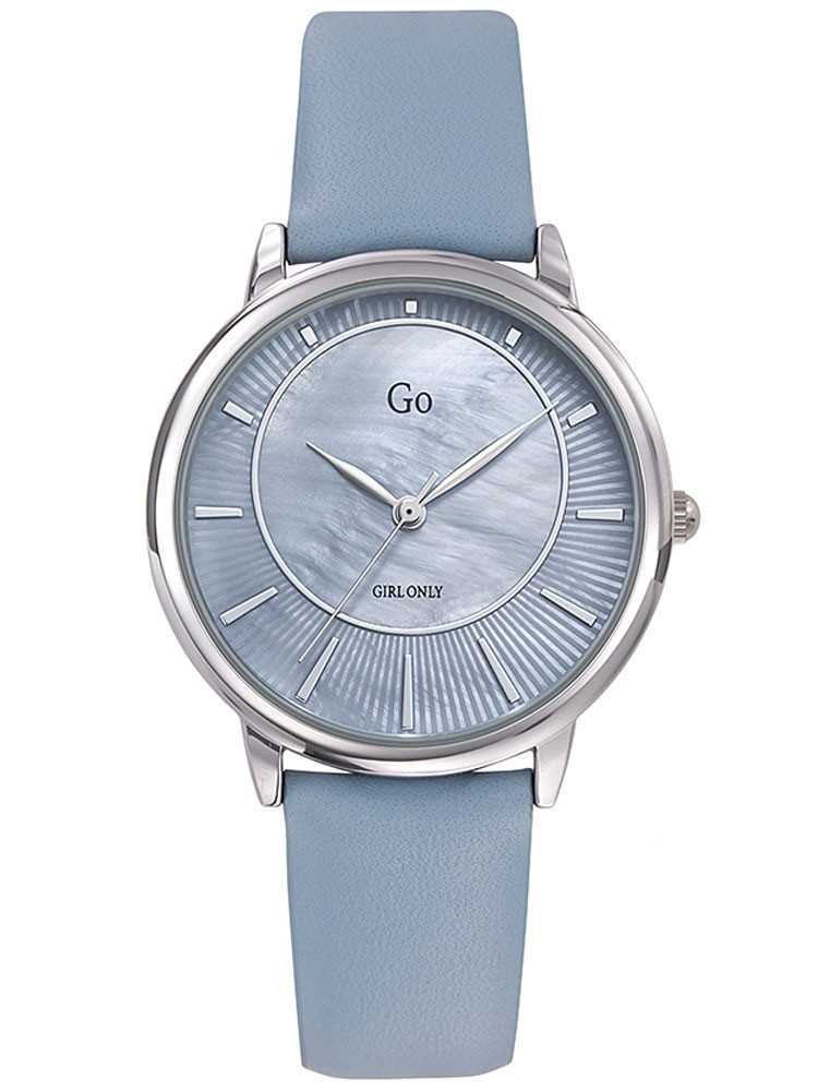 Montre Go for Girl Only bleu outremer cadran nacré bracelet cuir 699321