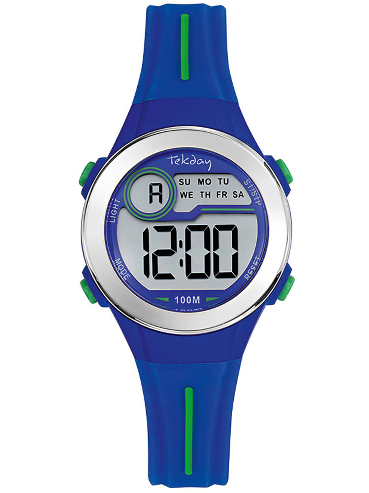Montre digitale sport Tekday bleue avec chronomètre 654692