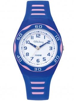 Montre sport Tekday bleue rose 654696