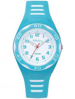 Montre sport Tekday bleue claire blanche 654697