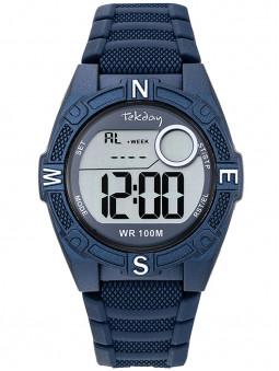 Montre digitale sport Tekday bleue foncée avec chrono 654701