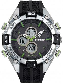 Montre homme sport Ruckfield double affichage noir vert 685096