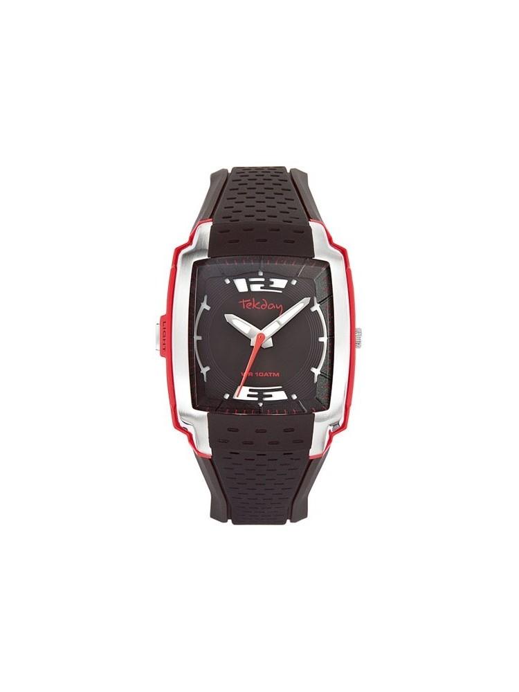 Montre Homme - Sport noir et rouge - Tekday 655723