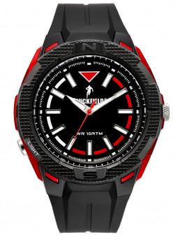 Perspective de face, Montre Chabal, marque Ruckfield, Rugby, sport, coloris rouge noir, référence 685085