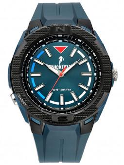 Perspective de face, Montre Chabal, marque Ruckfield, Rugby, sport, coloris bleu noir, référence 685087