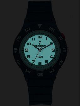 Montre Ruckfield bracelet silicone bleu  foncé 685092 de nuit