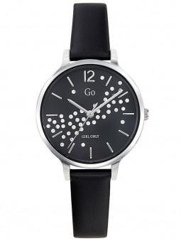 Montre Go tendance noire argentée et strass 699305