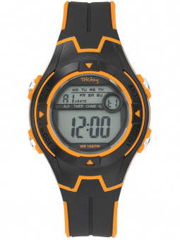 Montre digitale junior noir orange Tekday 654689