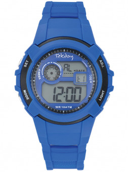 Montre digitale Tekday bleue 654690