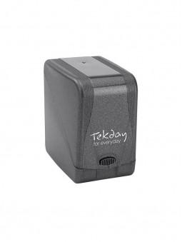 Boîte fermée pour la montre Tekday noire et vert anis, 654702